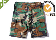 Woodland Ripstop Men's Camo Tactical Cargo Shorts Wearfirst With Three Big Belt Loops