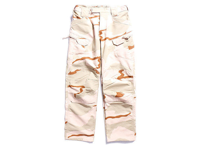 Tactical Waterproof Combat Trousers Stereo Cutting Knee Style , Army Camo Cargo Pants