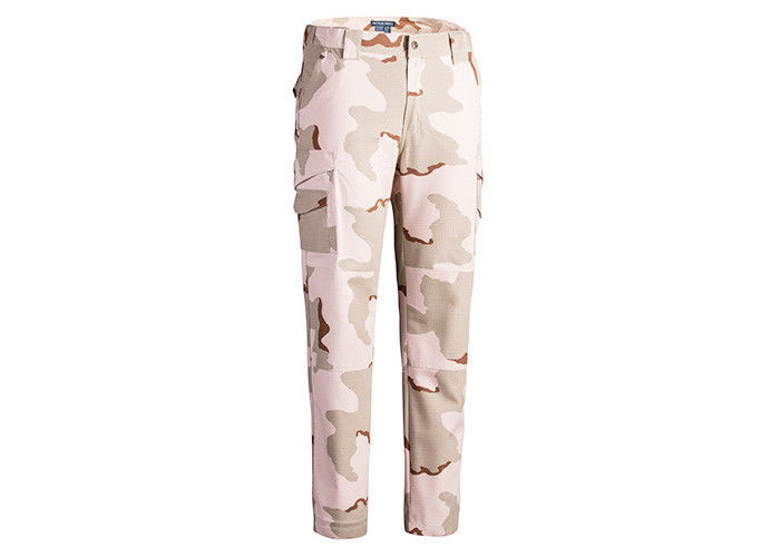 3 Color Desert Camo Printed Military Tactical Pants With Internal Knee Pockets