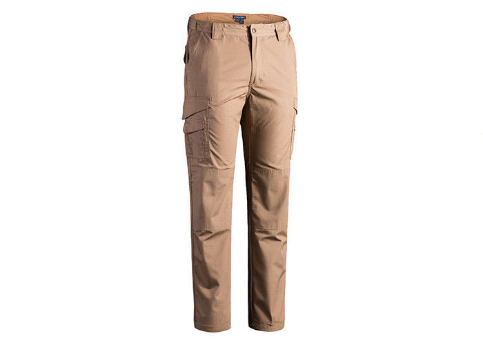 Outdoor Khaki Tactical Combat Pants , Men's Tactical Cargo Pants Lightweight