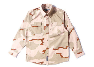 China Uniforme tático do combate do deserto de 3 cores, enrugamento uniforme de Multicam do exército resistente distribuidor